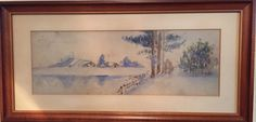 Landscape by my great grandmother Ruth Lange