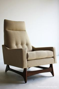 Mid Century Modern Highback Lounge Chair for Craft Associates  | eBay