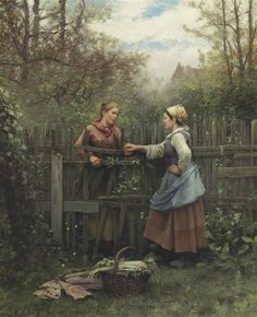 Daniel Ridgway Knight - Meeting at the Fence