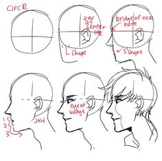Drawing Faces Male Tutorials Character Design 46 Ideas For 2019 - character design Drawing Heads, Guy Drawing, Drawing Poses, Drawing People, Drawing Tips, Drawing Sketches, Art Drawings, Sketching, Side Of Face Drawing