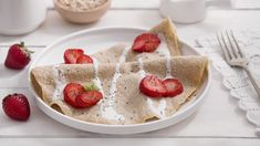 Blog - Panqueques fáciles (sólo 2 ingredientes) Loving Life Crepes, Nutella, Cereal, Blog, Breakfast, Gluten Free Flour, 2 Ingredients, Easy Recipes, Deserts