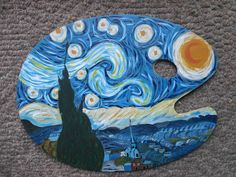 """Art is not the truth ."" hoe aesthetic drawing Paint Palette Starry Night by EyeAmLove on DeviantArt Vincent Van Gogh, Art Hoe Aesthetic, Aesthetic Painting, Aesthetic Drawing, Painting Inspiration, Art Inspo, Van Gogh Arte, Starry Night Art, Starry Nights"