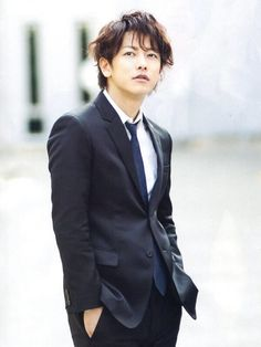 Takeru Satoh suit up as a detective for his new drama Bitter Blood.