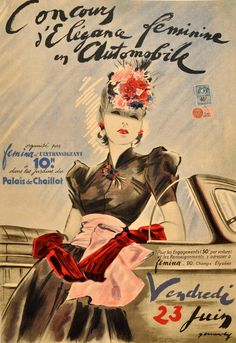 French original vintage poster from the 30s / 1stdibs