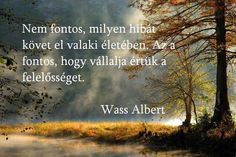 Wass Albert idézete a felelősségről. A kép forrása: DJ FREE Beautiful Landscape Images, Beautiful Pictures, Dj Free, Nature Photos, Picture Quotes, Quotations, I Am Awesome, Life Quotes, Inspirational Quotes
