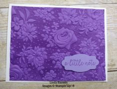 I so love this tone on tone look with the Country Floral Embossing Folder, I shared this technique in a video last week. If not, here is the video. The Country Floral Dynamic Embossing Folder. Card Making Tips, Card Making Techniques, Embossing Techniques, Art Journal Tutorial, Anna Griffin Cards, Shaped Cards, Embossed Cards, Easel Cards, Scrapbook Page Layouts
