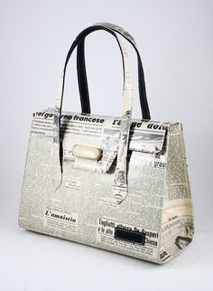 bag made of old newspapers