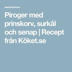 Piroger med prinskorv, surkål och senap | Recept från Köket.se