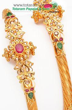 emerald, ruby, 22k gold bangles from Totaram Papalal