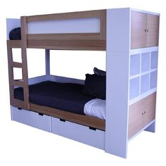 white kids bunk - bunk beds adelaide - out of the cot - 5
