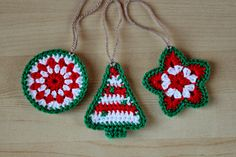 Crochet Pattern - Crochet Christmas Ornaments