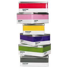 Cajas metálicas Pantone: guarda tus cosas con estilo   La Miscelánea
