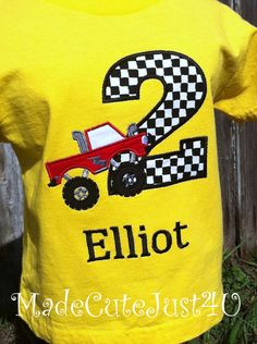Monster Truck Themed Birthday Number Shirt by madecutejust4u, $19.00
