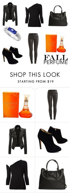 """""""What´s Your Fall Fragrance"""" by emma-esselmark ❤ liked on Polyvore featuring beauty, VILA, Giuseppe Zanotti, Rosie Assoulin, Prada and Lagos"""