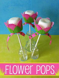 Marshmallow Flower Pops