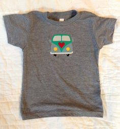 Colorful VW Raw Edge Applique on American Apparel Tees