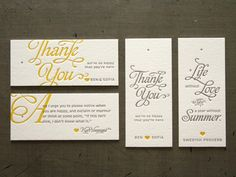"""These thank you cards are stunning, and the quote is fantastic!  """"And I urge you to please notice when you are happy, and exclaim or murmur or think at some point, 'If this isn't nice, I don't know what is.'"""""""