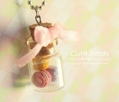 Macaroons in a Jar Necklace by Cutetreats on Etsy, $18.00