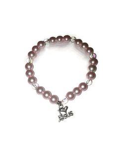 Christian Bracelet, Christian Charm Bracelet, Christian Jewelry, Christian Gifts, I Love Jesus, Pearls, Pretty in Pink, Baptism Gifts, Bible by WomenAfterGodsHeart on Etsy