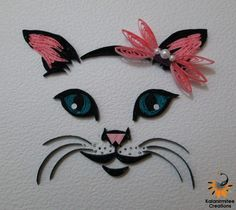 Quilled cat face - AWESOME!