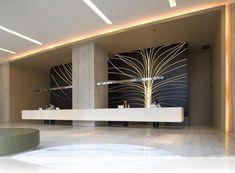 Modern Lobby And Reception Design with Chinese Elements and Unique Decoration Style