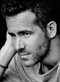 Ryan Reynolds by Matthew Brookes for InStyle magazine (October Celebrity Crush, Celebrity Photos, Celebrity Portraits, Blake And Ryan, Raining Men, Black And White Portraits, Actors, Attractive Men, Cinema