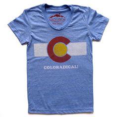 83d215f7b Image of Coloradical Colorado Flag T-Shirt- Women's Light Blue so cute  Denver Broncos