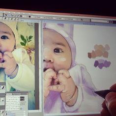 #baby #Portrait #painting #Drawing #digitalPainting #Sketching #graphic #wacom #corelpainter #art #illustration #Dubai #happydubai #MyDubai #UAE #كلنا_رسامين #رسامين_العرب #رسامين