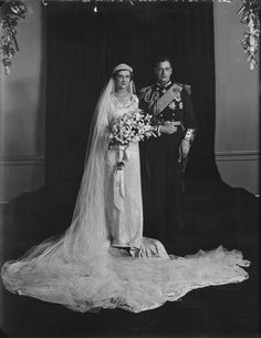 NPG x104247; The Wedding of Princess Marina, Duchess of Kent and Prince George, Duke of Kent by Elliott & Fry