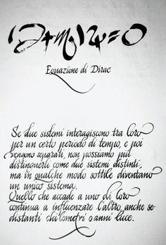 Madrhiggs will implement the Dirac equation.  Equazione di Dirac