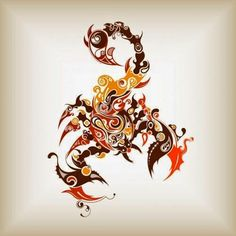 Colourful Scorpion / Scorpio Zodiac Symbol Tattoo Ideas: (Watercolor Tattoo, Horoscope/ Zodiac Symbol, Arm, Leg, Belly, Back, Shoulder) ....