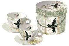 www.gifthaus.co.za Colibri Cappuccino Cups Cappuccino Cups, Tea Time, Tea Cups, Porcelain, Tableware, Porcelain Ceramics, Dinnerware, Tablewares