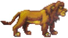 Lion King, can translate into perler beads!   I want to make a giant one!