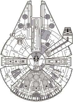 millennium falcon schematic tattoo - Google Search