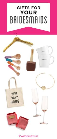 Can't find the right gift for your best gals? These are our favorite ideas for your bridesmaids! #giftguide