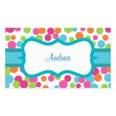 Bright Polka Dots Business Card