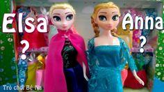 BÉ NA BÓC ĐỒ CHƠI BÚP BÊ NỮ HOÀNG ELSA và công chúa Anna
