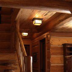 Hillside Lanterns for Low Ceiling Rustic Cabin   Brass Light Gallery