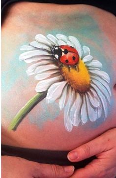 belly painting flower