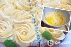 Delikatny krem do ozdabiania tortów i babeczek Polish Desserts, Polish Recipes, Icing Frosting, Wedding Desserts, Food Inspiration, Delicious Desserts, Cake Decorating, Sweet Tooth, Good Food