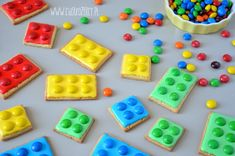 Lego Cookies, Cut Out Cookies, Sugar Cookies, Sweetest Thing, Birthday Ideas, Kindergarten, Party Ideas, Food, Meal