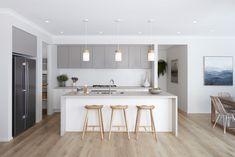 Caesarstone, 4023 Topus Concrete, Boutique Homes Victoria Home Decor Kitchen, Kitchen Interior, Home Kitchens, Küchen Design, House Design, Design Ideas, Modernisme, Boutique Homes, New Home Builders