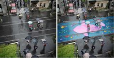 Project Monsoon, Transparent River-Themed Street Murals That Only Appear When It Rains