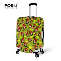 Fashion Design Protective Luggage Cover Cute Monkey Printed Travel Luggage Cover Suit for 18-30 inch Case Elastic Suitcase Cover