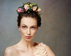 Flower head wreathfloral head wreathwedding by MagaelaAccessories
