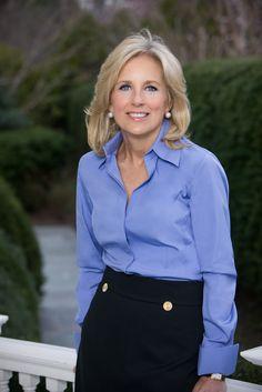 Blue blouse and black skirt | Global trend skirt blog