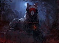xD Commission for Wolf-Butter of their character Warden. I Dare You - Commission Gothic Fantasy Art, Fantasy Wolf, Fantasy Beasts, Dark Creatures, Mythical Creatures Art, Fantasy Creatures, Cool Art Drawings, Animal Drawings, Werewolf Art