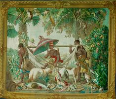 Nobleman of the Kongo traveling in a Brazilian Landscape Tapestry by Albert Eckhout and Alexandre François Desportes. 1691 http://ift.tt/2hgT8hh