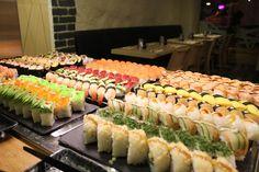 Sushi lounasbuffet, 13,90€.