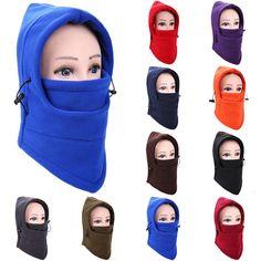 Hot Men Women Winter Fleece Balaclava Hat Ski Motorcycle Neck Face Mask Hood Cap